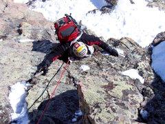 Rock Climbing Photo: M2 on Flattop. Photo E. Helmuth