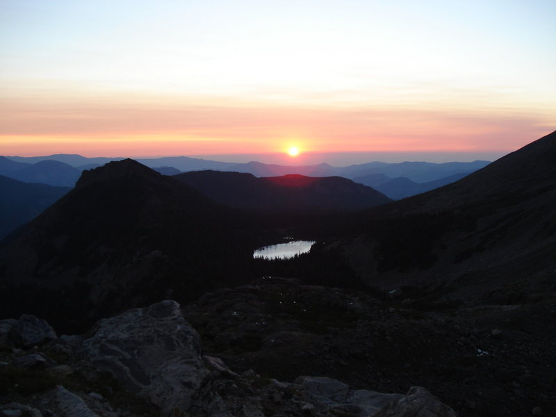 Sunrise over Lake Helene, RMNP