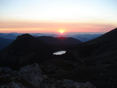 Rock Climbing Photo: Sunrise over Lake Helene, RMNP