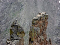 Rock Climbing Photo: The summit of the Petit Grepon from Sharkstooth, R...