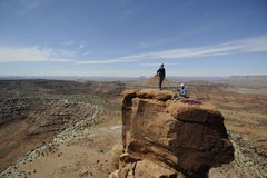 Rock Climbing Photo: Summit of South Six Shooter, Utah, 2009