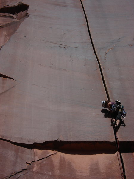 Supercrack of the Desert, 5.10, Indian Creek, Utah
