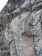Rock Climbing Photo: Balkan Dirt Diving goes up the thin seam in the mi...