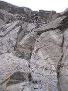 Rock Climbing Photo: Heading up into the box.... just where I like it.