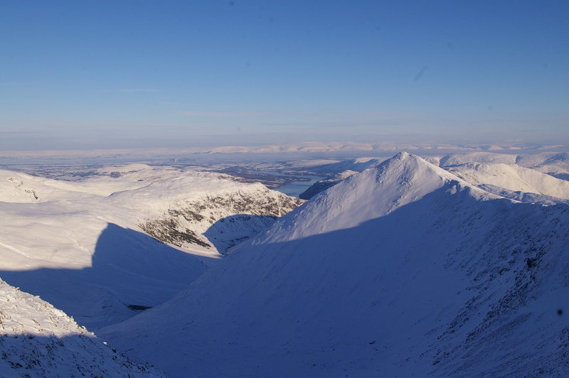 Rock Climbing Photo: Another view from Helvellyn towards the Ullswater ...
