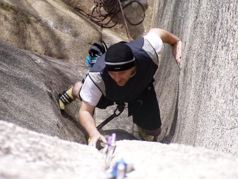 Rock Climbing Photo: Pixie corner, lead on pre-placed gear