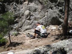 Rock Climbing Photo: Dean chillaxing in The Black Hills.