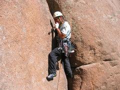 Rock Climbing Photo: Trad-master Keith just getting into Fantasia.