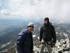 Rock Climbing Photo: Scott and I on top of The Grand.