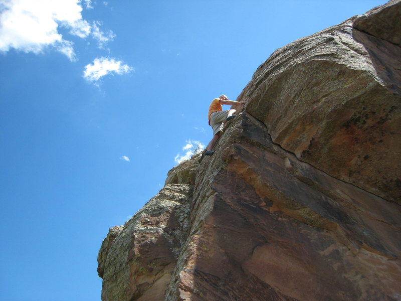 A little soloing at Horsetooth.