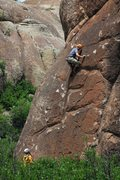Rock Climbing Photo: Clint on the sharp end at Penetente.
