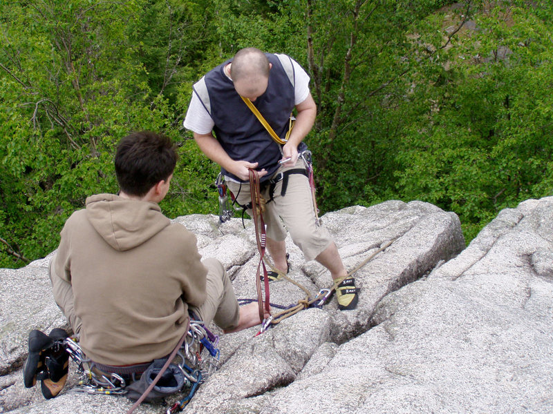 Rock Climbing Photo: Anchor building on Sugarloaf, Murrin Park