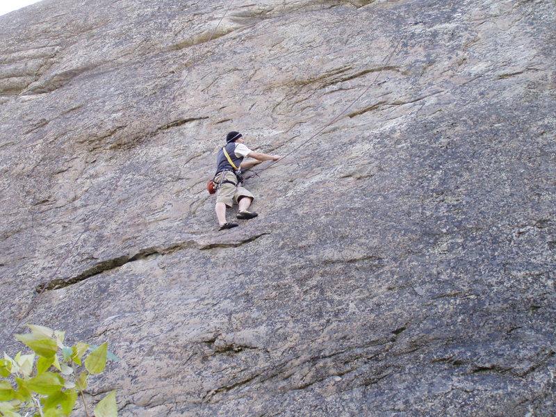 Top roping at Kids Cliff, Skaha