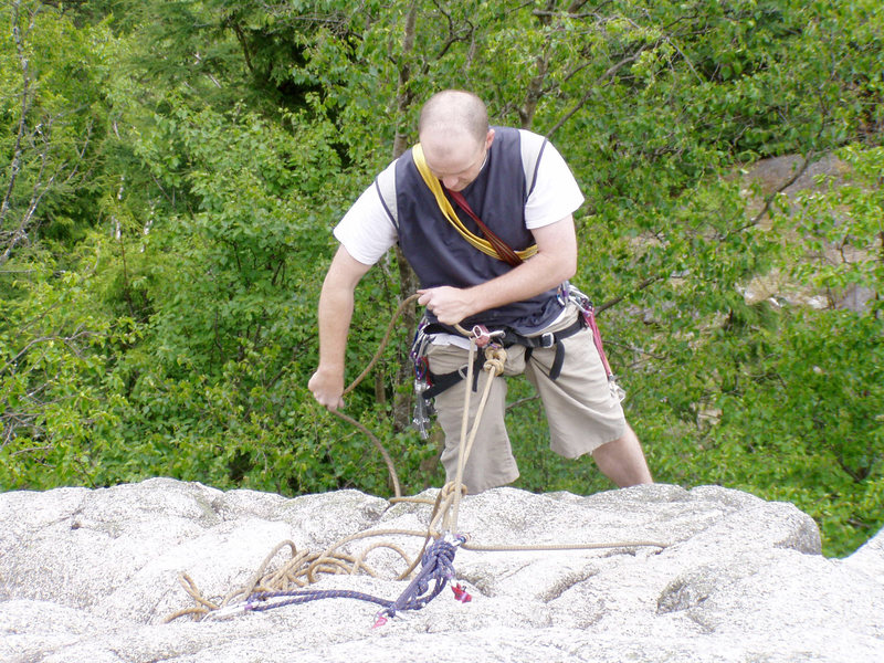 Rock Climbing Photo: First gear anchor, Sugarloaf, Murrin Park