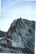 Rock Climbing Photo: Londoner with the Inaccessible Pinnacle of Squrr D...