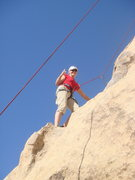 Rock Climbing Photo: Christi-I love how the rope matches your shirt-ver...