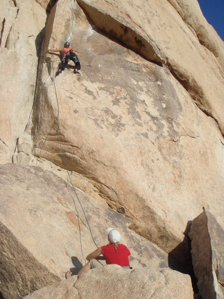 """I'm leading """"Sexy Grandma"""", wondering how I got myself into this, bolted climbs are scary! I want Double Cross!"""