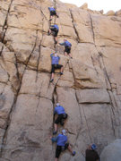 Rock Climbing Photo: Jill, climbing Wet Pigeon.  Time lapse makes it lo...