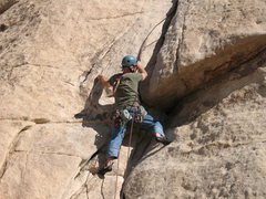 Rock Climbing Photo: Retrieving a stuck rope near the crux move of The ...