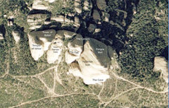 Rock Climbing Photo: This overview shows the main formations of Texas C...