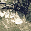 This overview shows the main formations of Texas Canyon. Thanks to Google Maps for providing satellite image.