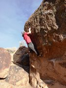 Rock Climbing Photo: Pulling pockets on Diamond, V2