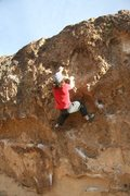 Rock Climbing Photo: Setting up for the crux on Local Boy Does Good, V4