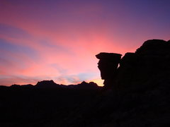 Rock Climbing Photo: Mecca sunset