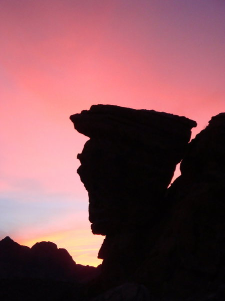 Rock Climbing Photo: Mecca silhouette