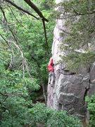 Rock Climbing Photo: Pat leading