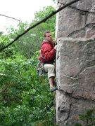 Rock Climbing Photo: Pat leading again