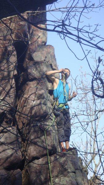 Rock Climbing Photo: Stewart Korte of the HWDAMF having a quick drink