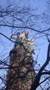 Rock Climbing Photo: Stewart Korte and Chris Keller of the HWDAMF enjoy...