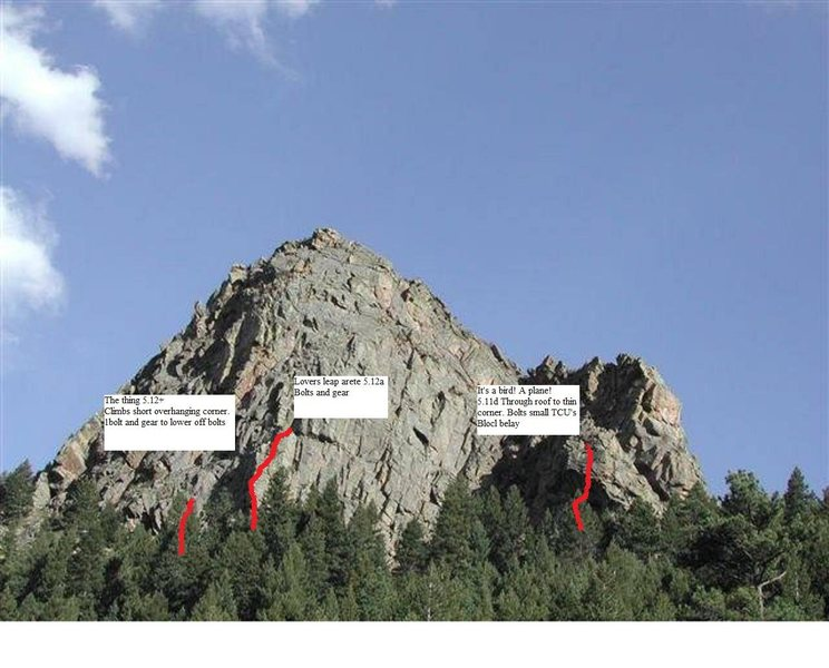Rock Climbing Photo: Three routes from 14 years ago.