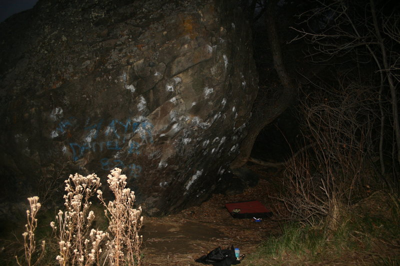 Rock Climbing Photo: Main boulder at Putah Creek.