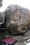 Rock Climbing Photo: Pow Pow Right Topo