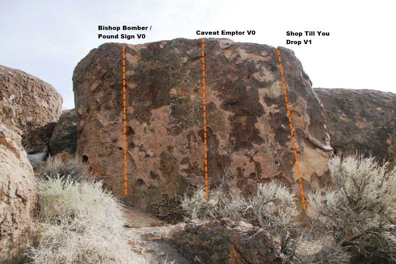 Rock Climbing Photo: Bomber Boulder Main Topo