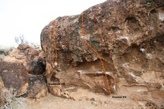 Rock Climbing Photo: Crystal Boulder Left Topo