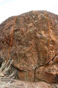Rock Climbing Photo: Jerry Falwell Boulder Left Topo