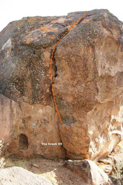 Snapper Boulder Crack Topo