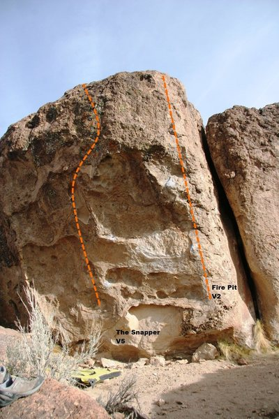 Snapper Boulder Right Topo