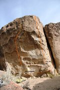 Rock Climbing Photo: Snapper Boulder Right Topo