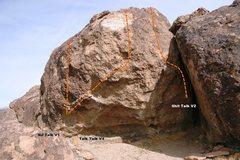 Rock Climbing Photo: Talk Talk Boulder Topo