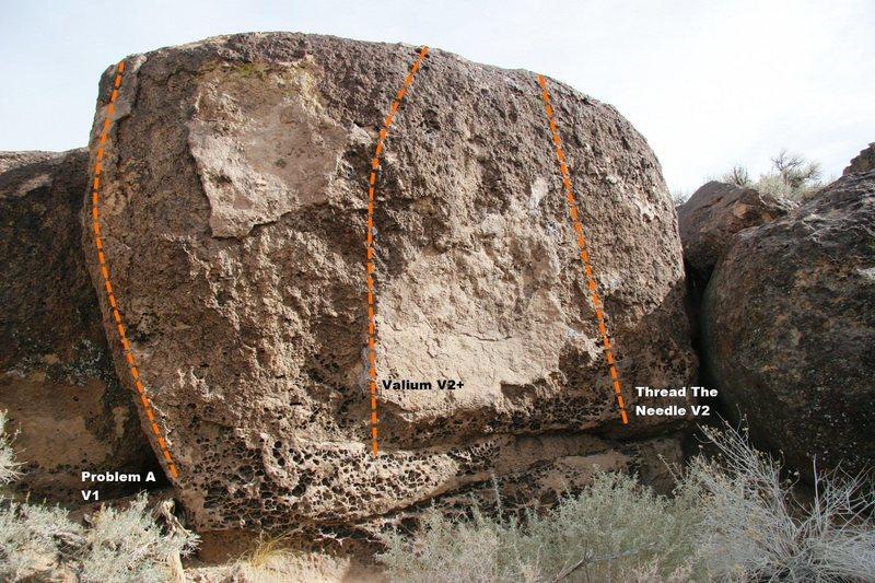 Rock Climbing Photo: Valium Boulder Topo