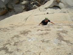 Rock Climbing Photo: Looking for holds (and not finding any) on EBGB's.