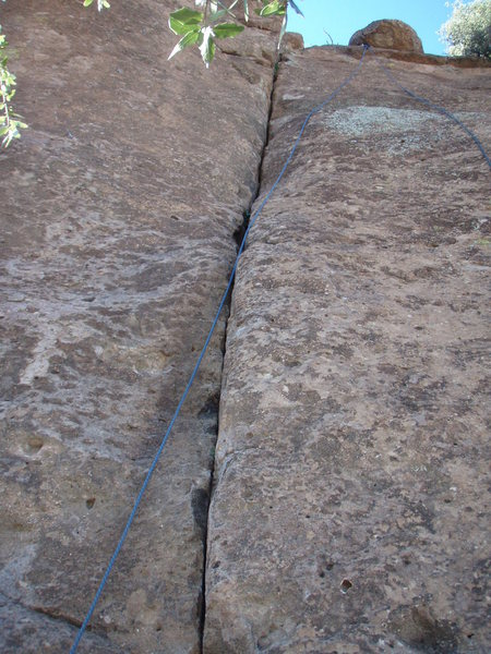 The Jester (face climb right of the crack shown)