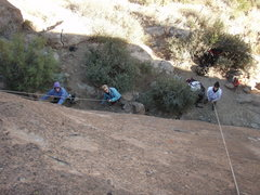Rock Climbing Photo: Looking down on the right side climbs of the thron...