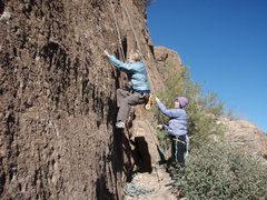 Rock Climbing Photo: Susan climbing with Suzanne belaying on 'Stuart li...