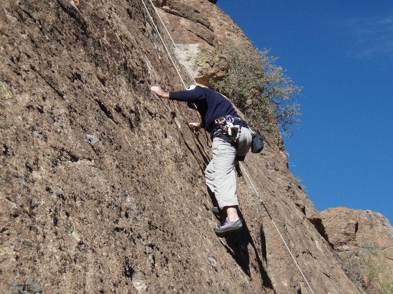 Scott climbing Dr. Giggles
