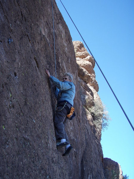 Rock Climbing Photo: Susan on 'Squeeze Play'